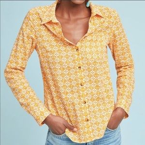 Anthropologie Maeve Petrin Button Down Top.